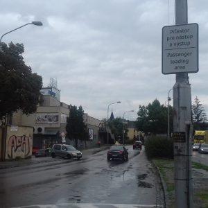 Nástupná avýstupná zóna vcentre mesta