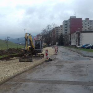 Práce budú pokračovať na jar, podľa počasia