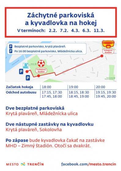 b65b241ca Už od piatku 2. februára 2018 bude premávať, v deň konania hokejového  zápasu, autobus z bezplatného parkoviska pri Mestskej krytej plavárni na  Zimný štadión ...