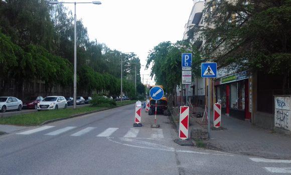 Rekonštrukcia plynovodu obmedzí parkovanie