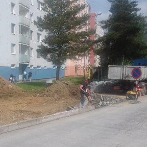 Okrem výstavby sa budú aj vyznačovať parkovacie miesta